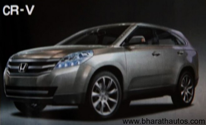 Artist rendering of 2012 Honda CR-V circulated in a Japanese magazine