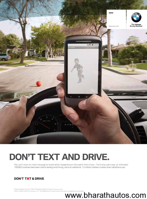 BMW Launches Campaign Against Texting While Driving