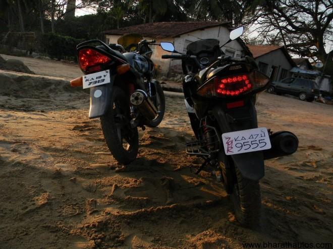 Hero Honda Karizma R v/s ZMR - Rear