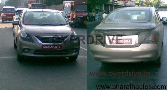 Spied Nissan Sunny
