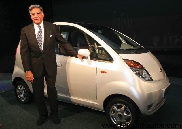 Ratan Tata with Tata Nano