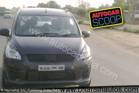 Spied Maruti's New R III Mini-MPV - Front