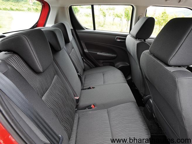 2011 Maruti Suzuki Swift - Rear Seats
