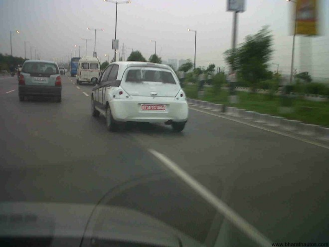 Spied Honda's Brio in Greater-Noida yet again - 001