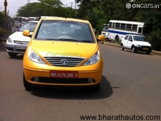 Spied – 2011 Tata Indica Vista Facelifted - Front