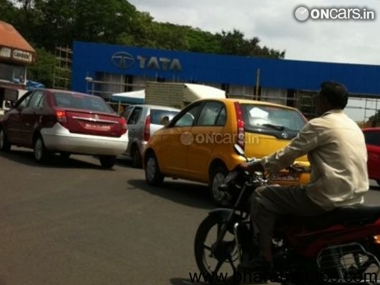 Spied – 2011 Tata Indica Vista Facelifted - Rear