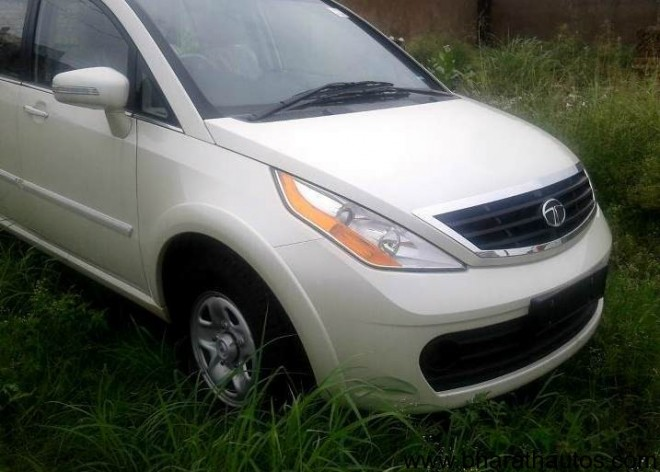 Spied Tata Aria 4×2 - Front
