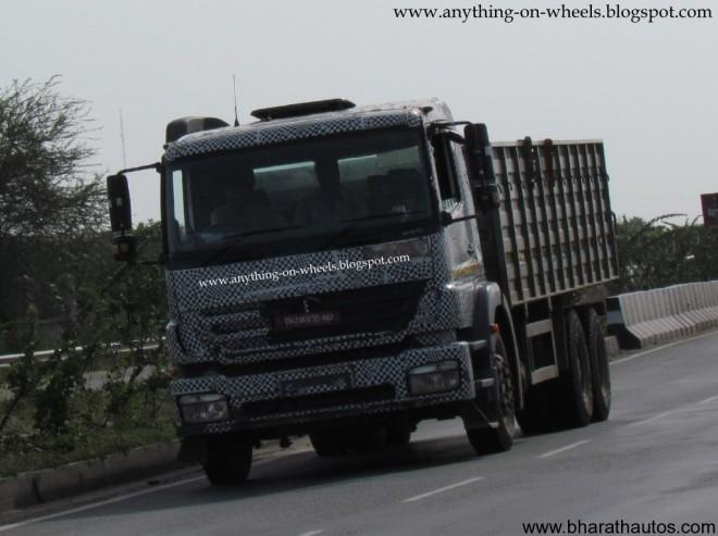 BharatBenz trucks spied - Front