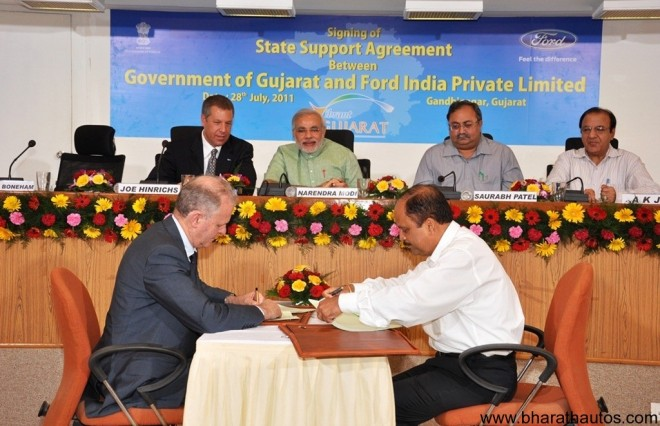 Ford-India-Gujarat-Government-Agreement