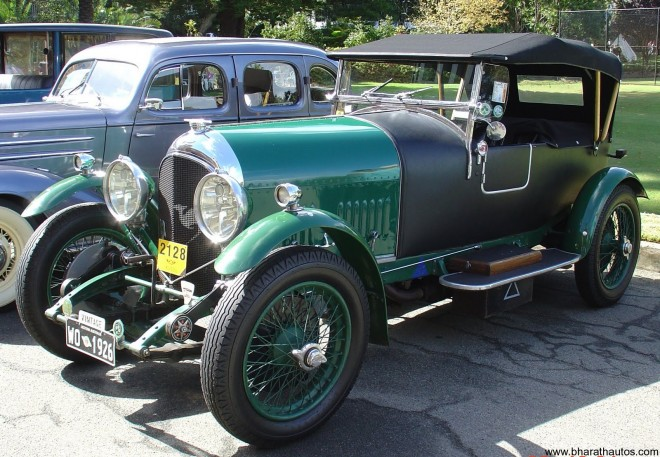 The 1926 Bentley Speed Six Tourer is a famous British car of the vintage era