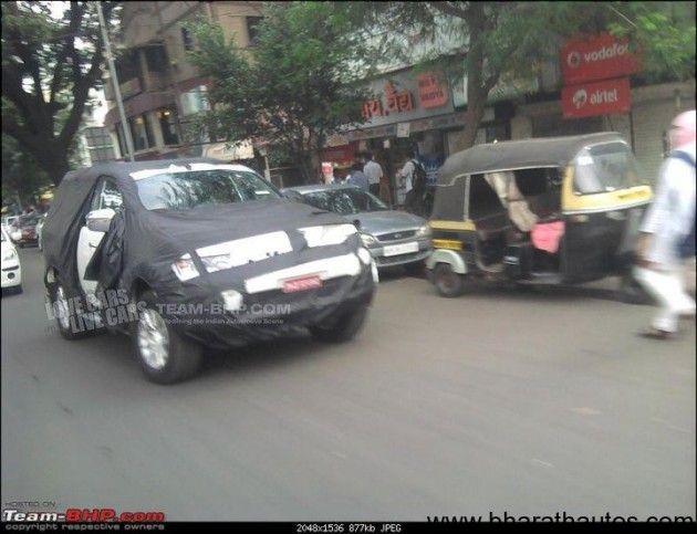Spied 2011 Mitsubishi Pajero Sport in Pune