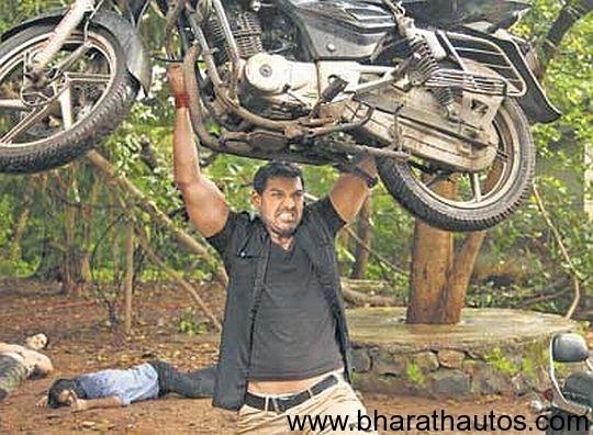 John Abraham lifts a Bajaj Pulsar 150