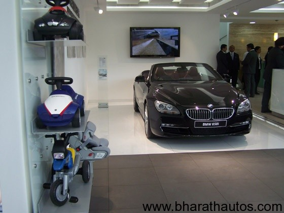 BMW's lounge in New Delhi