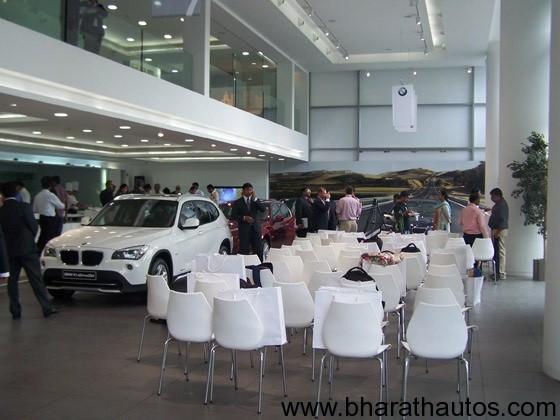 BMW's lounge in New Delhi