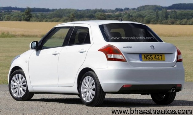 2012 Maruti Swift Dzire CS - RearView