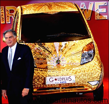 Ratan Tata unveils the Rs22 crores Nano