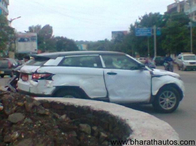 Range Rover Evoque spied in Pune