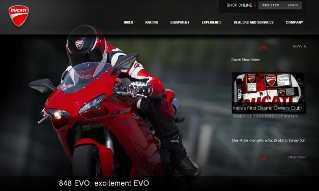 Ducati official Indian wesite!