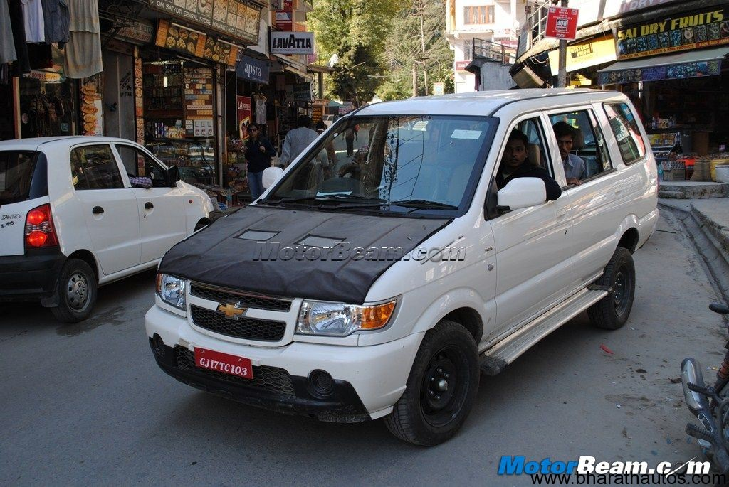 Spied 2012 Chevrolet Tavera Facelift In Manali Updated