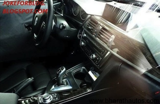 2012 BMW 3-Series interior leaked