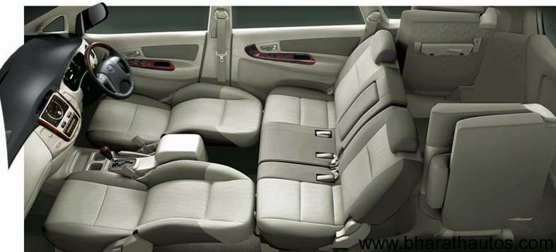 Toyota innova facelift expected to launch at 2012 auto expo for Innova interior 8 seater