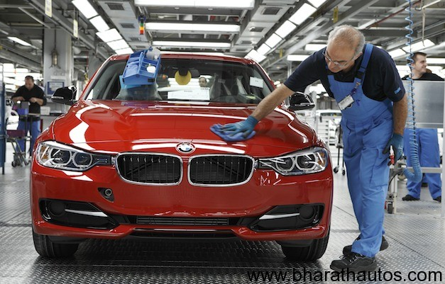 2012 BMW 3-Series production unit at Munich plant