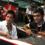 Shahrukh Khan promotes Ra.One on F1 car in the Indian Grand Prix