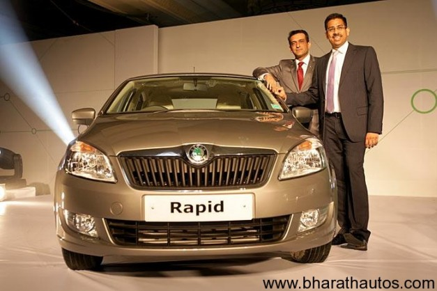 Skoda India launches the Rapid sedan at Rs. 6.75 lakhs
