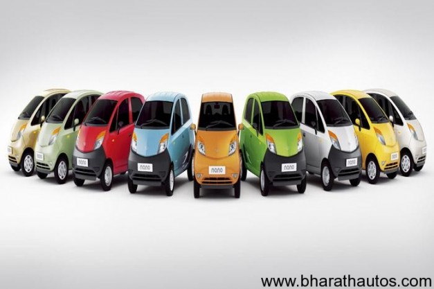 2012 Tata Nano - Colors