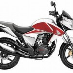 Honda CB Unicorn Dazzler Deluxe - Pearl Sunbeam White with Red
