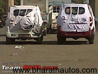 2012 Mahindra Xylo facelift spied - RearView
