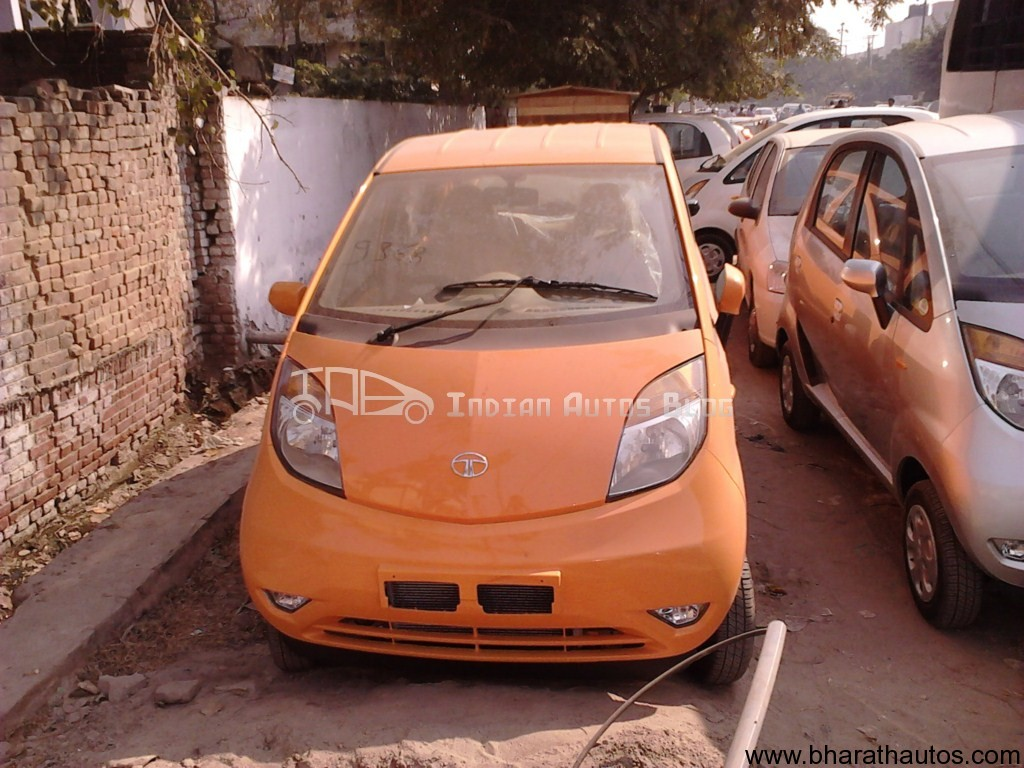 Spied Upgraded Tata Nano Cars Appear At Some Dealerships