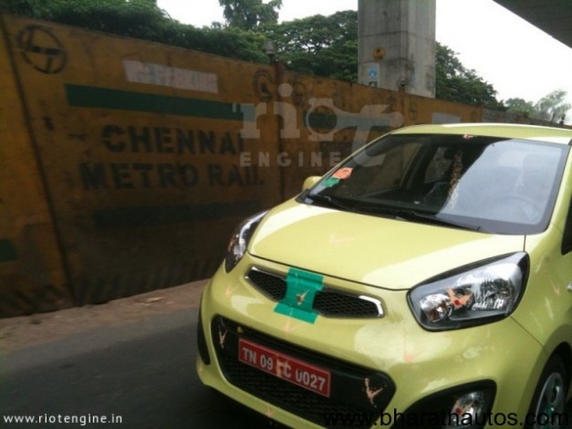 Kia Morning/Picanto spied in Chennai - FrontView