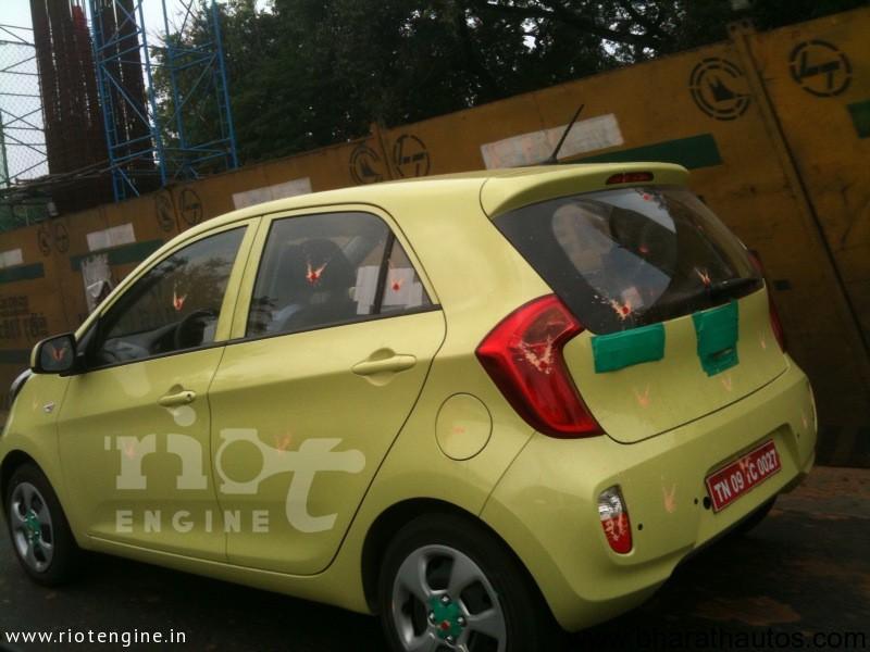 Spied Kia Morning Picanto In Chennai