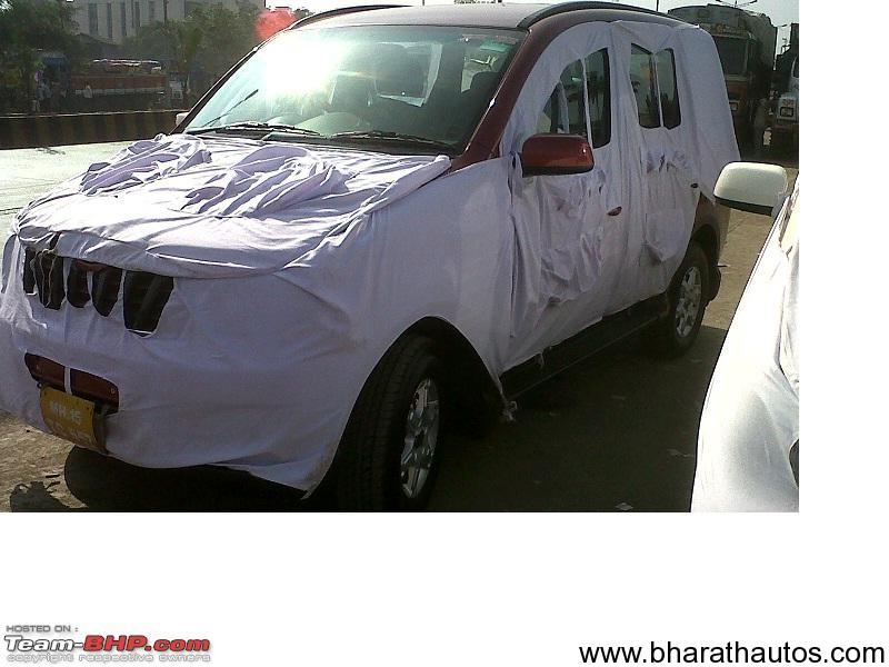 Spied 2012 Mahindra Xylo Facelift Heavily Camouflaged
