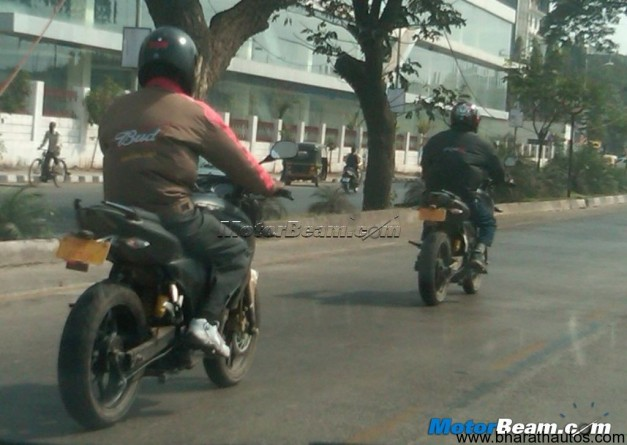 Spied next-gen 2012 Bajaj Pulsar in Pune again - 001