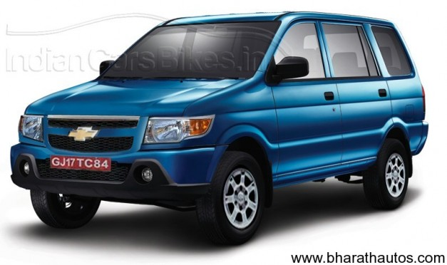 Facelifted Chevrolet Tavera MUV - Rendered