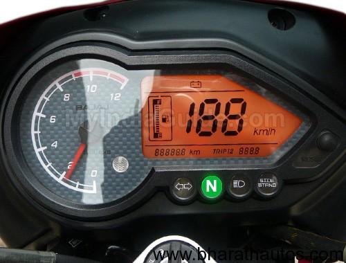 Bajaj Pulsar Flagship model 220F - SpeedometerView