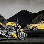 Ducati Streetfighter 848 and Mercedes SLK 55 AMG - 001