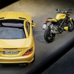 Ducati Streetfighter 848 and Mercedes SLK 55 AMG - 002