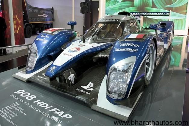 Peugeot Le Mans-winning 908 race car
