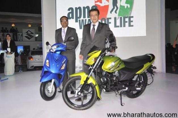 Suzuki unveils Hayate 110cc motorcycle & Swish 125cc scooter