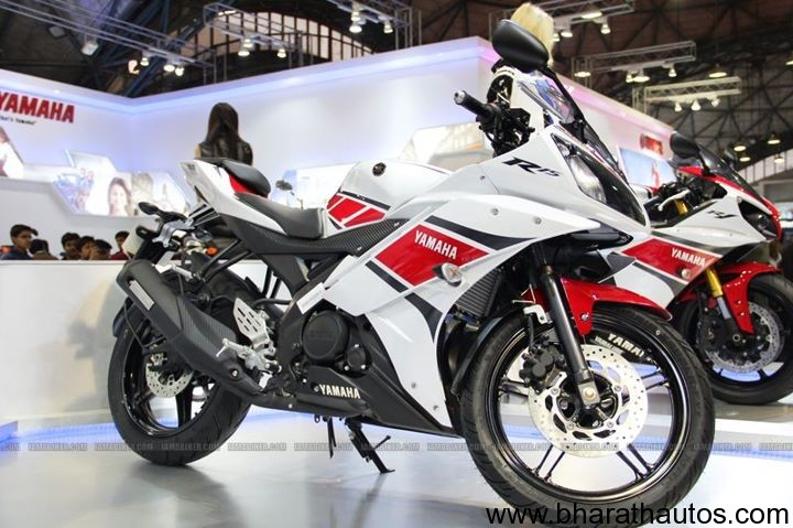 R15 V2 Red And White 2012 Auto Expo ...
