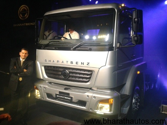 BharatBenz unveils their heavy-duty truck