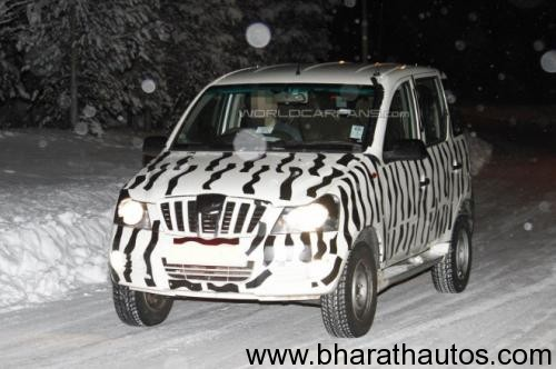 Spied - Mahindra Mini Xylo testing in Northern Europe
