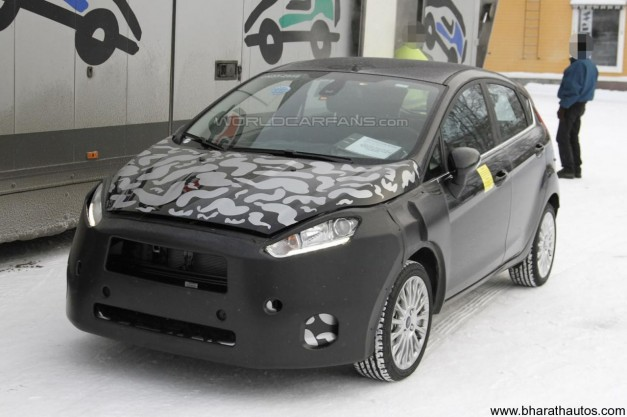 2013 Ford Fiesta Hatchback spied - front