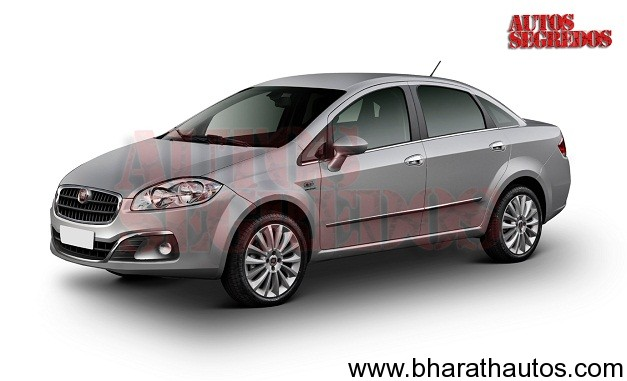 2013 Fiat Linea facelift - FrontView