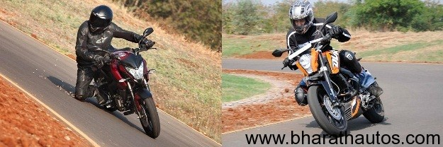 New Bajaj Pulsar 200NS versus KTM 200 Duke