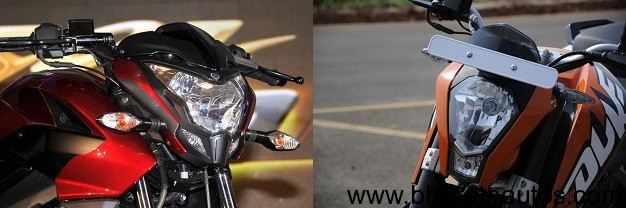 New Bajaj Pulsar 200NS versus KTM 200 Duke - 001