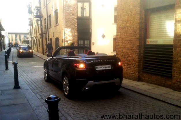 Range Rover Evoque Convertible Concept spied - RearView